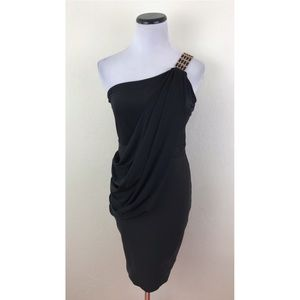WOW Couture One Shoulder Draped Bodycon Dress